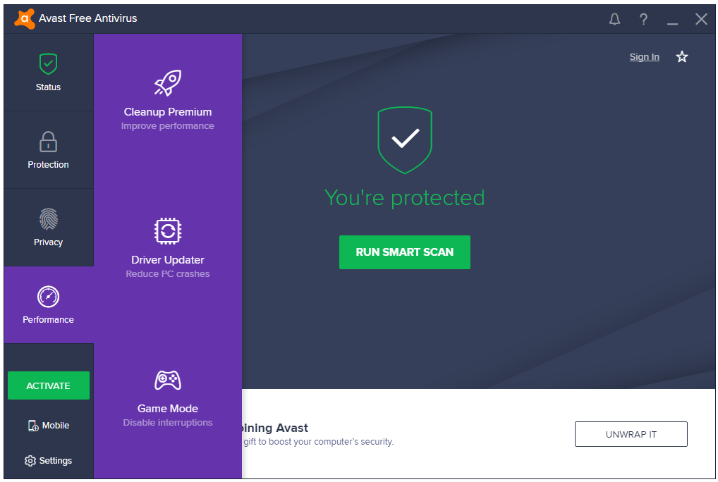 review free antivirus for windows 10
